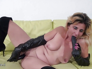 fresh maiden playing with her special vibrators
