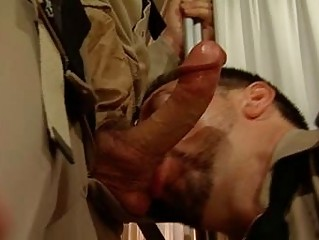 dick sucking done into a military fashion