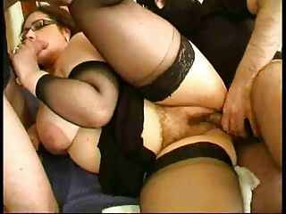 fine french heavy lady drilled into high shoes