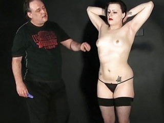 boobs whipping of fresh bdsm girl in spanking
