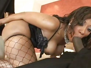 sluty brown amp into fishnet pantyhose enjoys