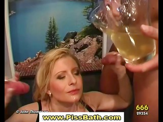 piss drinking amp gets goldenshower in