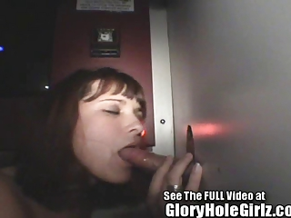 gloryhole chick cindi sloppy dick sucking