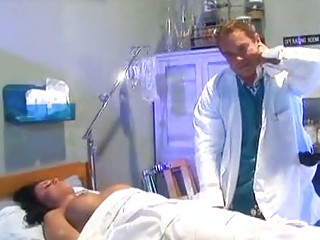 prick playing patient evelyn angy gives her medic