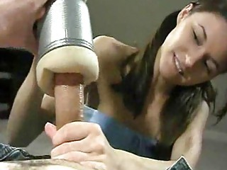 fresh handjobs employing the awesome flesh light