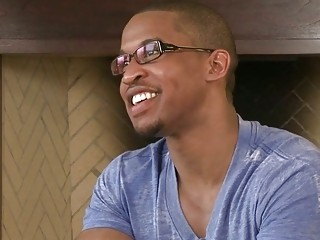 black man starring inside front of the webcam
