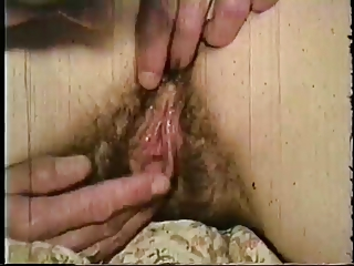 vintage: two shaggy brunettes fucked