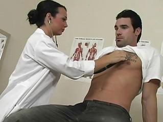 superb brunette amateur medic with large breast