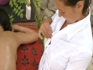 deep massage and lezz fingering