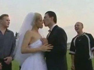 russian wedding, bride copulates all guy guests
