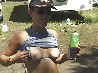 outside festival titty flashing