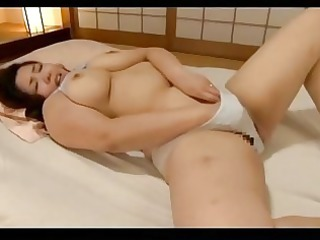 naughty chubby lady masturbating with vibrator on
