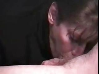 woman licking
