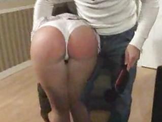 desperate undergraduate obtain her bottom spank