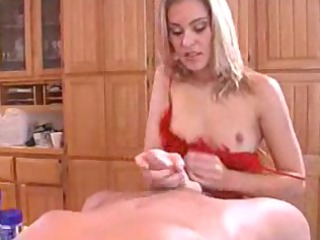 incredible lubed up handjob and fellatio